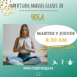 CLASES DE YOGA A LAS 8:30